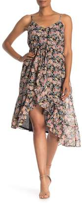 Collective Concepts Spaghetti Strap Floral Print High/Low Dress