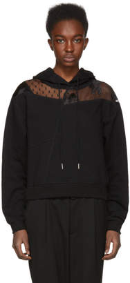 McQ Black Cut-Up Hoodie