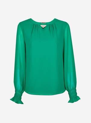 b3a04a5c3 Dorothy Perkins Womens   Billie   Blossom Green Long Sleeve Blouse
