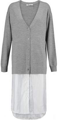 Alexander Wang Wool And Striped Linen Cardigan