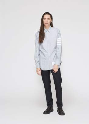 Thom Browne Classic Button-down Oxford Shirt With Woven 4-bar