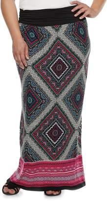 Apt. 9 Plus Size Print Column Maxi Skirt