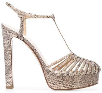 Francesco Russo snake pattern sandals
