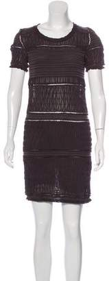 Isabel Marant Short Sleeve Silk Dress