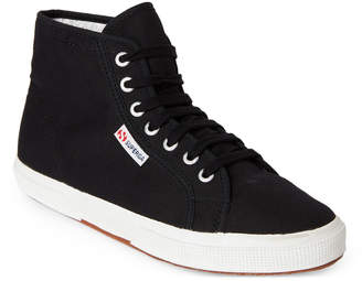 Superga Black & Off-White 2095 Canvas High-Top Sneakers