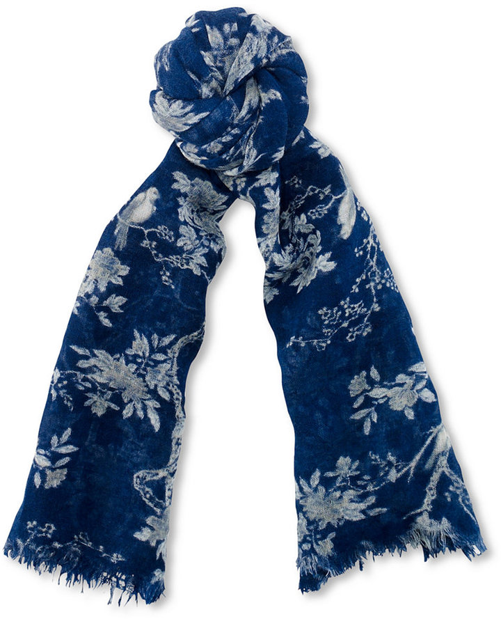 Denim & Supply Ralph Lauren Floral-Print Fringe Scarf