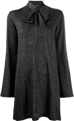 P.A.R.O.S.H. glitter scarf-detailed jumper