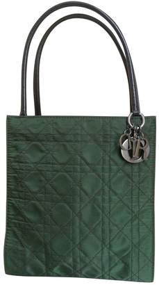Christian Dior Green Cloth Handbag