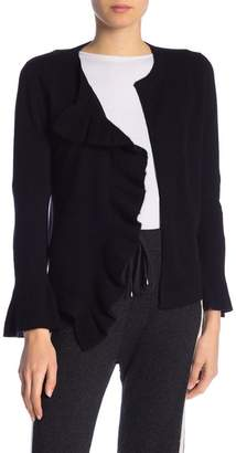 In Cashmere Cashmere Open Front Ruffle Cardigan