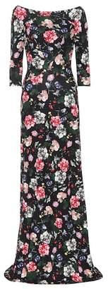 Erdem Valentina floral-printed ponte gown