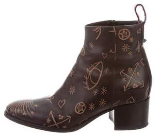 Valentino Cuban Ankle Boots