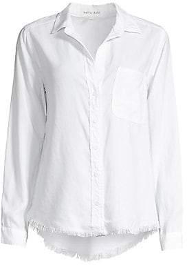 Bella Dahl Women's Frayed Hem Button-Down Shirt