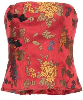 Marques Almeida Marques'almeida floral brocade corset top