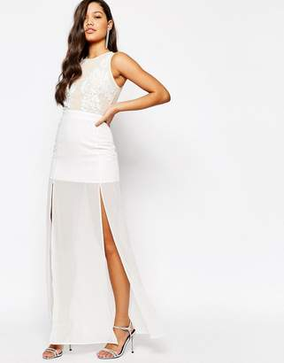 Missguided Premium Embellished Top Maxi Dress