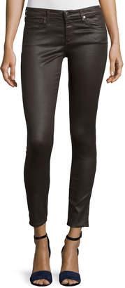 AG Jeans Vintage Leatherette Ankle Leggings, Bordeaux Brown