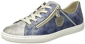... Rieker L0943, Women s Low-Top Sneakers, Blue (Grey jeans   41 94e41acc2c