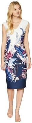 Adrianna Papell Tropical Essence Printed Sheath Dress Women's Dress