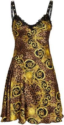 Versace Baroque Leopard Slip Dress