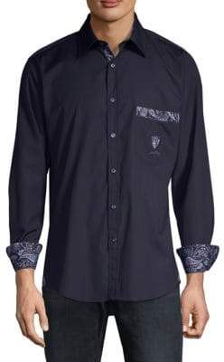 Paul & Shark Paisley Cotton Button-Down Shirt
