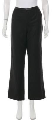 Chanel Wool High-Rise Pants Grey Wool High-Rise Pants