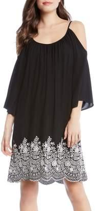 Karen Kane Embroidered Cold Shoulder Dress