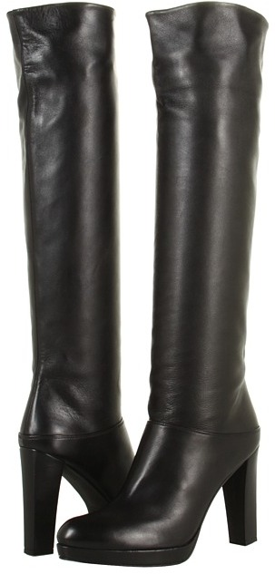 Stuart Weitzman Crushable (Black Nappa) - Footwear