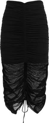 Cinq à Sept Aren Ruched Midi Skirt