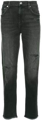 A Gold E Agolde distressed straight-leg jeans