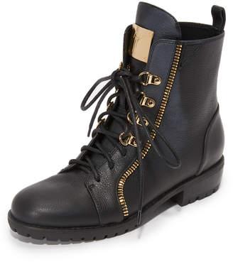Giuseppe Zanotti Leather Combat Boots $1,175 thestylecure.com