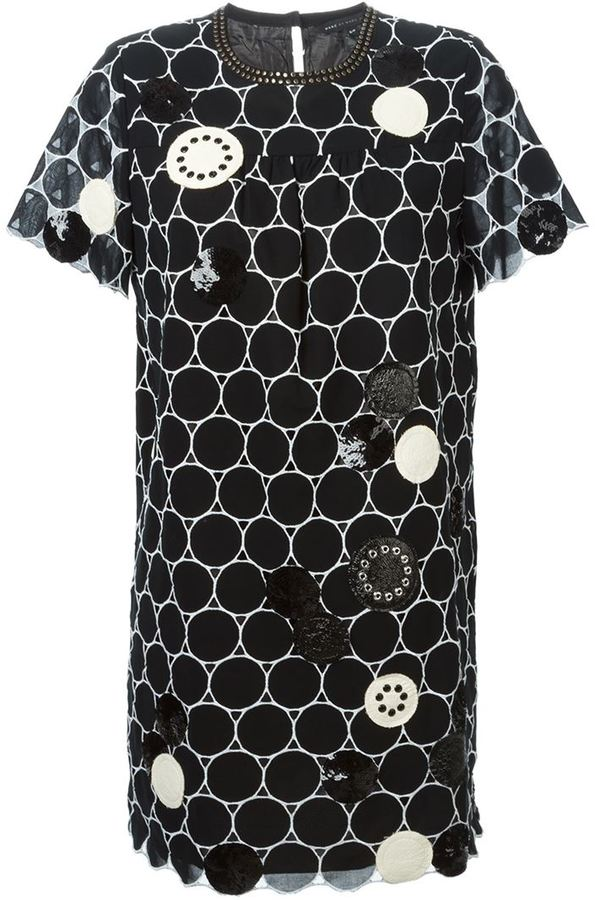 Marc By Marc Jacobs embroidered circle shift dress