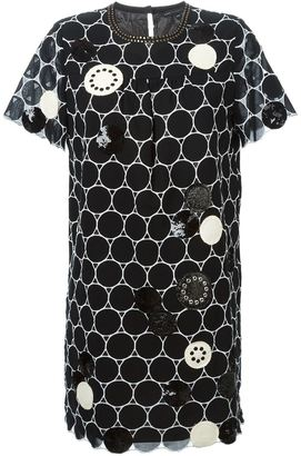 Marc By Marc Jacobs embroidered circle shift dress $795.27 thestylecure.com