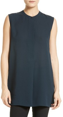 Women's Vince Sleeveless Silk Tunic $275 thestylecure.com