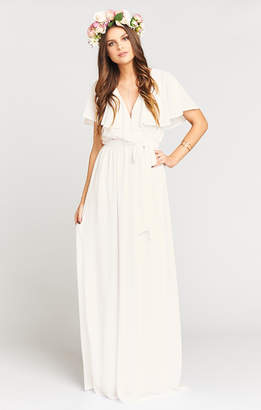 Show Me Your Mumu Audrey Maxi Dress ~ Ivory Chiffon