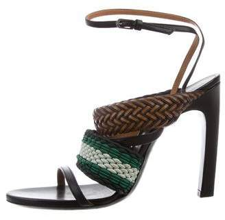 Dries Van Noten Woven Ankle Strap Sandals