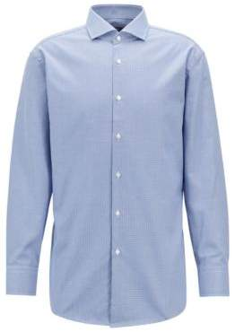 BOSS Hugo Slim-fit shirt three-dimensional micro structure 15/L Light Blue
