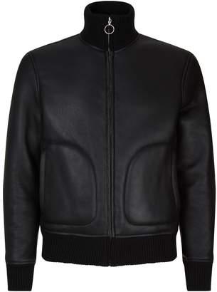 Sandro Sheepskin Leather Jacket