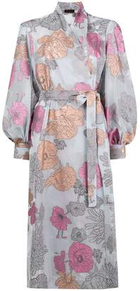 Stine Goya フローラル ベルテッドドレス