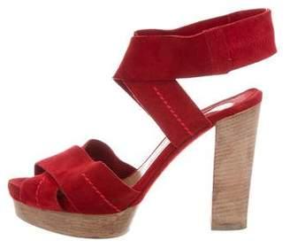 Chloé Suede Platform Sandals