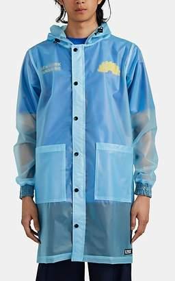 U.P.W.W. Men's PVC Snap-Front Parka - Blue