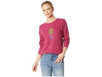 Life is Good Pineapple Love Crusher Long Sleeve T-Shirt