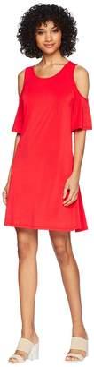 Kensie Slinky Knit Cold Shoulder Dress KS5K8197 Women's Dress