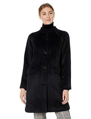 Lark & Ro Women's Funnel Neck Coat