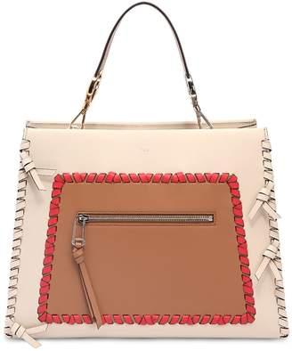 Fendi Medium Runaway Leather Top Handle Bag