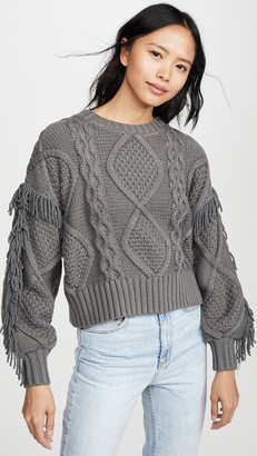 Line & Dot Jasper Fringe Sweater