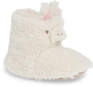 Boden Llama Faux Fur Slipper Boots