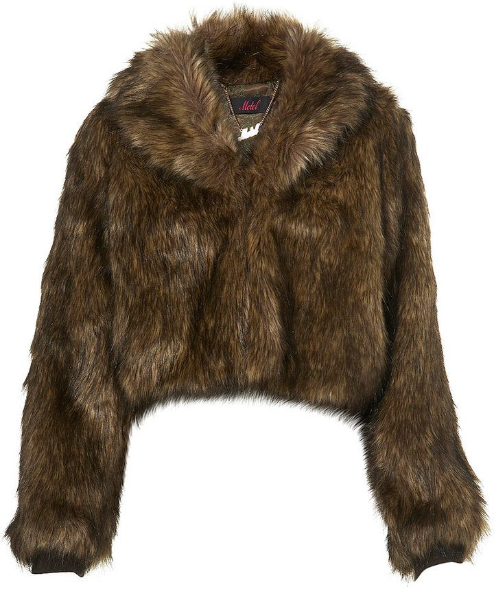 Faux Fur Jacket by Motel**