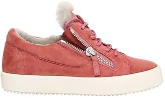 Giuseppe Zanotti Design 20mm Suede & Shearling Sneakers