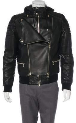 Balmain Lambskin Hooded Jacket