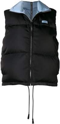 Prada zipped padded vest