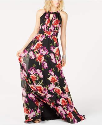 INC International Concepts I.n.c. Printed Halter-Neck Maxi Dress